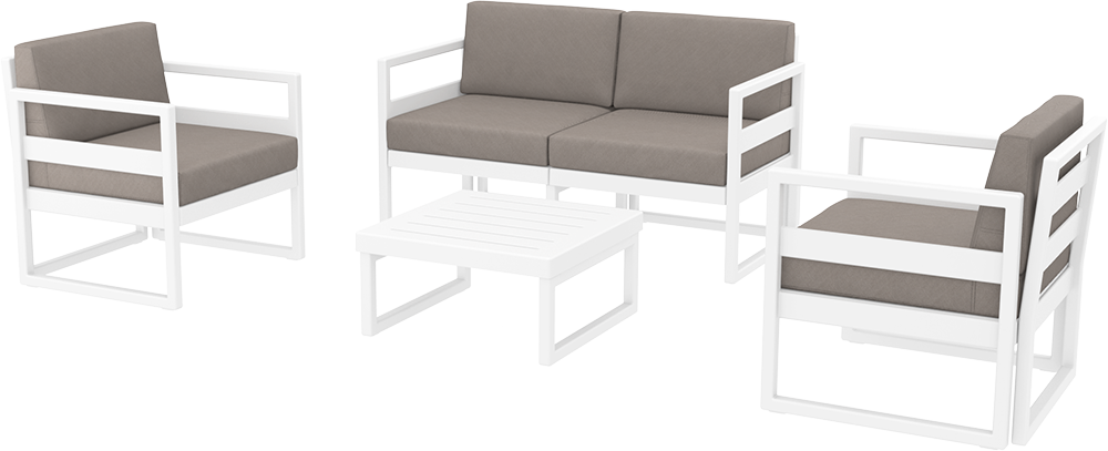 SST-132-Mykonos  Lounge Set  (1 pcs 2 seater sofa+2 pcs 1 seater+1 Coffee table)