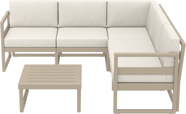 SST-134-Mykonos  Corner Lounge Set  (1 pcs 5 seater sofa+1 Coffee table)