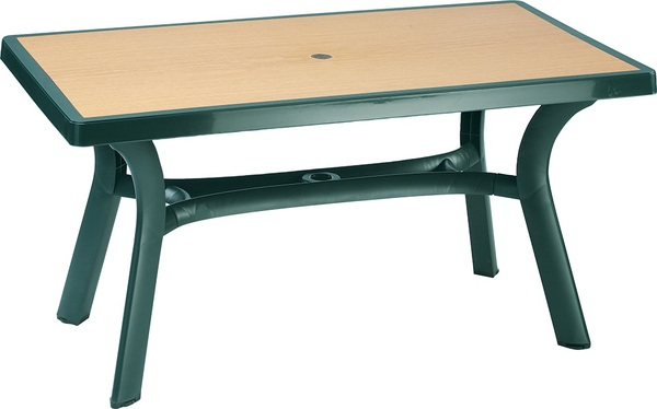 SST-182D-Roma Rectangular Table-Plastic 140x80