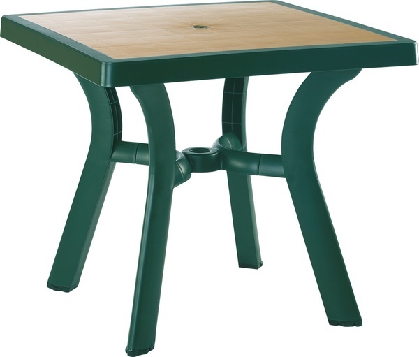 SST-770-Forza Square Plastic-Aluminum Table 80x80