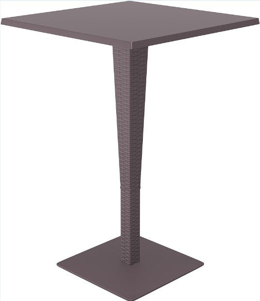 SST-888-Riva Bar Table Rattan Looking Injection-Werzalit Top 70x70