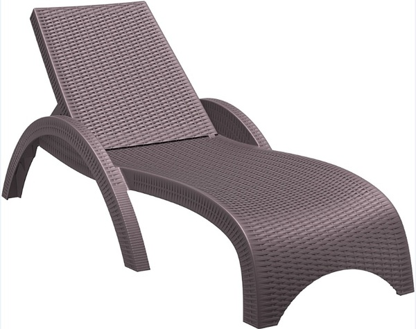 SST-860-Fiji Rattan Looking Injection Sunlounger
