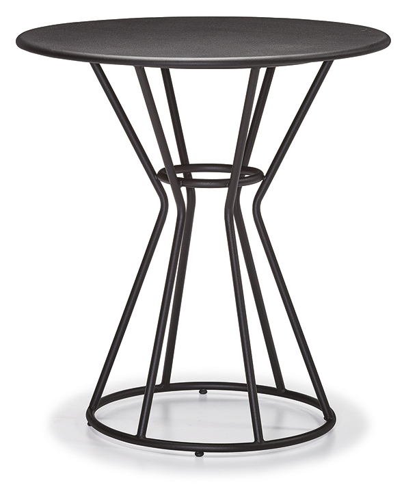 DCS-243-3-Table Cage Leg Metal Top 70cm Round  or 70x70cm Square