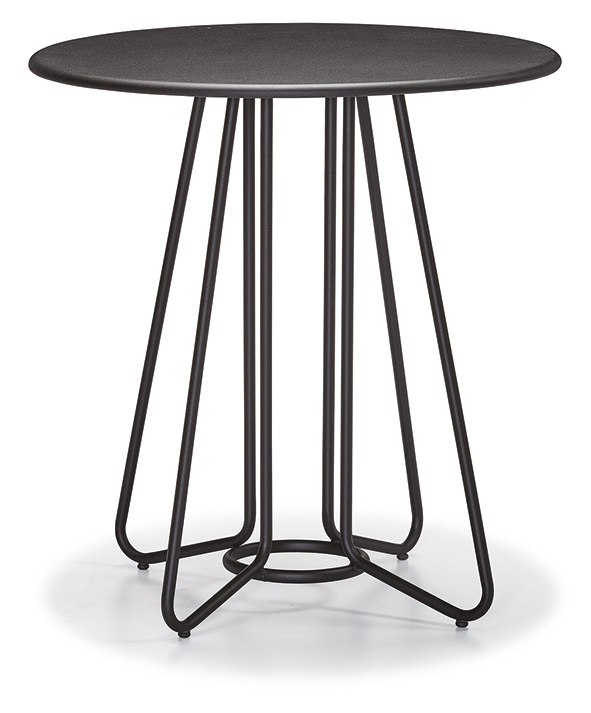 DCS-244-4-Table Metal Leg Metal Top 70cm round or 70x70cm