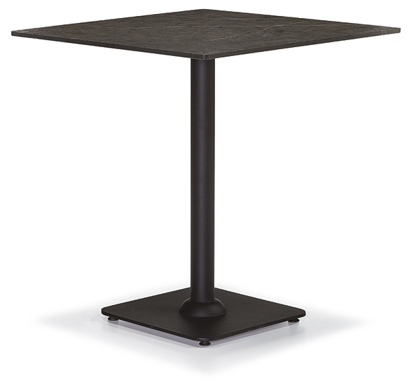 DCS-247-1-Table 12mm Compact Laminate Table Top Metal Leg-70x70cm or 76x76cm