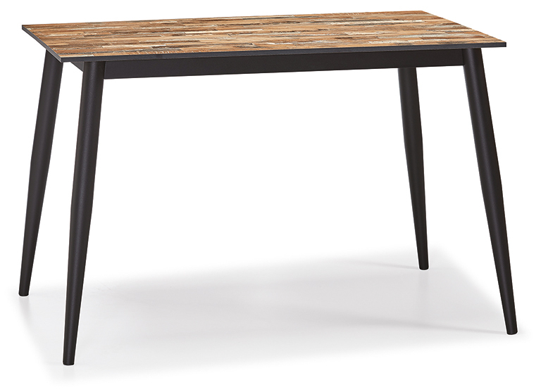 DCS-535-3-Table 12mm Compact Laminate Top Metal Leg 76x120cm