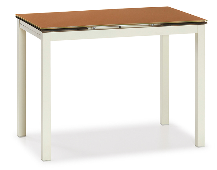 DCS-251-1-Table Melamine Top Metal Leg 70x120cm or 80x120cm