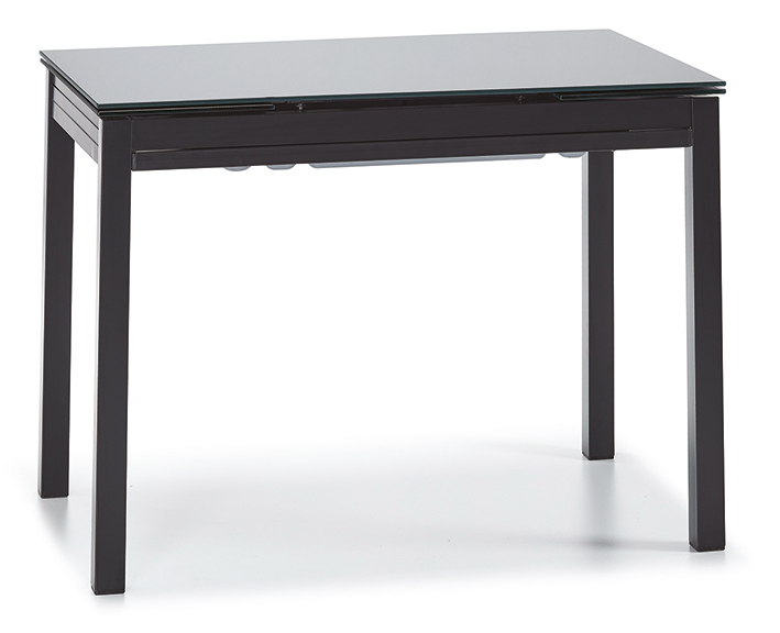 DCS-KM-8-60x100-Extendable Glass Top Table Metal Frame