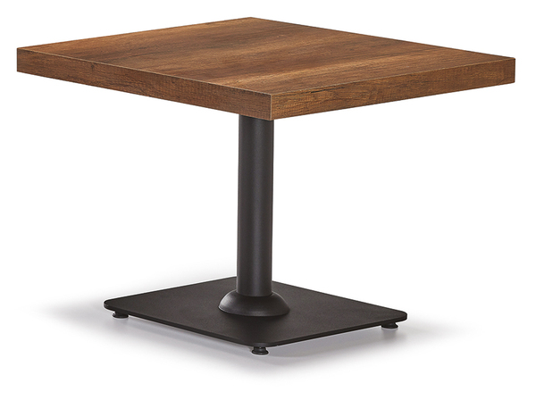 DCS-247-4-Coffee Table Melamine Top Metal Leeg 60x60cm