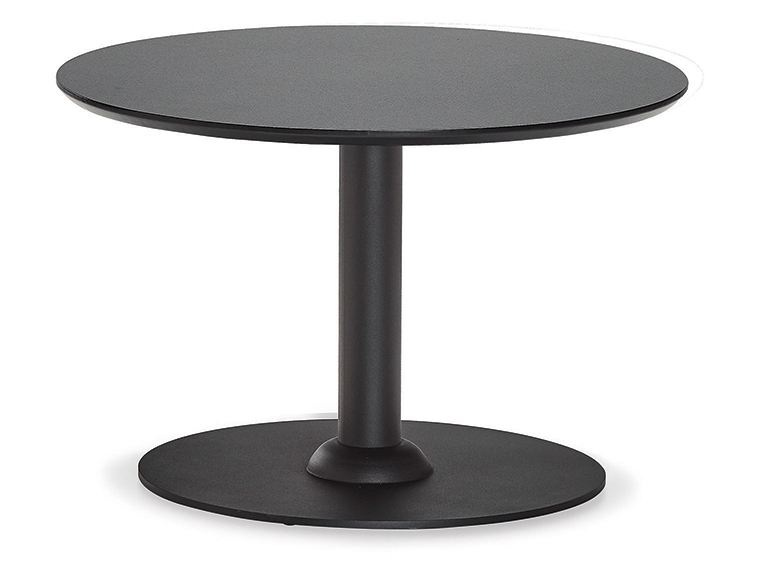 DCS-252-4-Round Coffee Table D:60cm -18mm Melamine Top Metal Leg