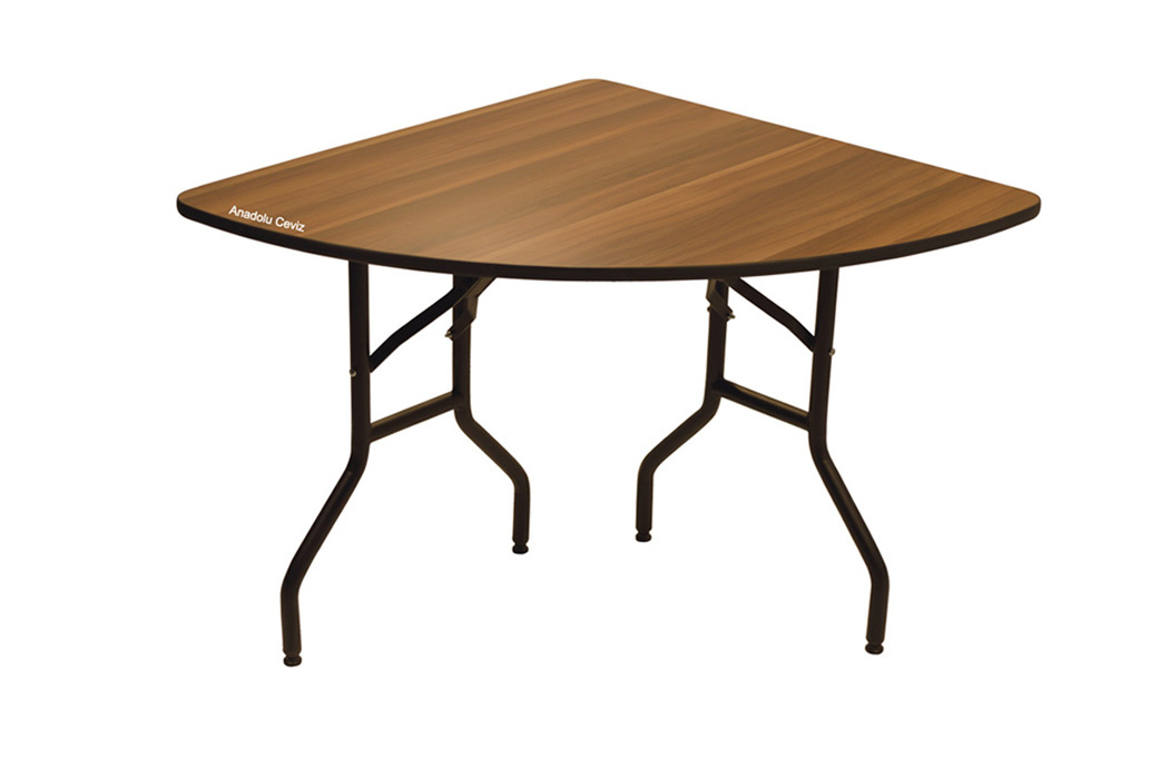 Bnk Ms04 Quarter Round Banquet Table Folding Legs Several