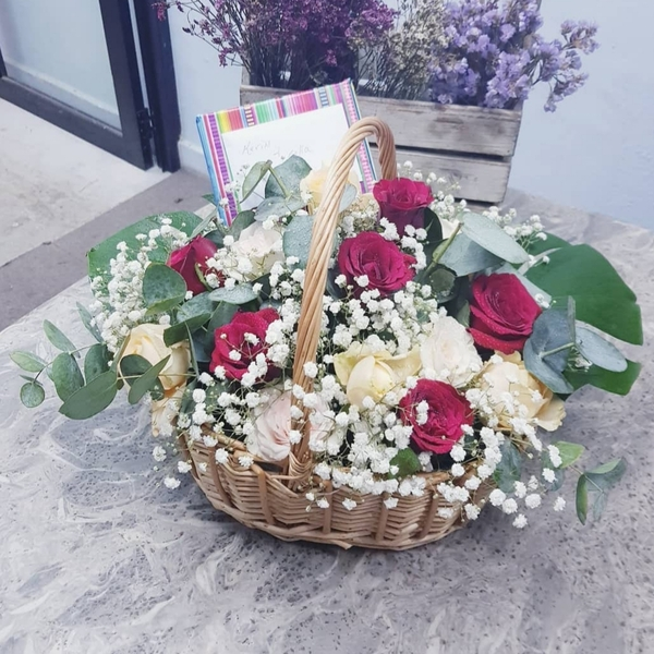 Flower Basket with FREE DELIVERY