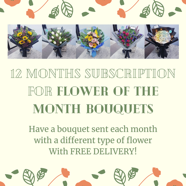 Flower Of The Month With FREE DELIVERY