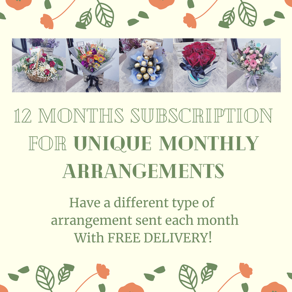 Unique Monthly Arrangements With FREE DELIVERY