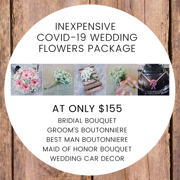 COVID-19 Wedding Flowers Package