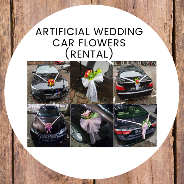 Artificial Wedding Car Decor (Rental)