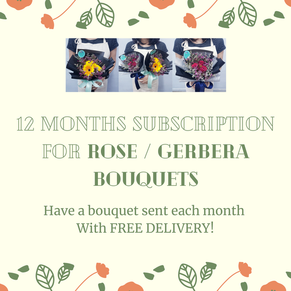 Rose / Gerbera Bouquets With FREE DELIVERY