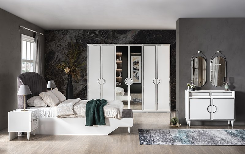 DECO WHİTE BEDROOM