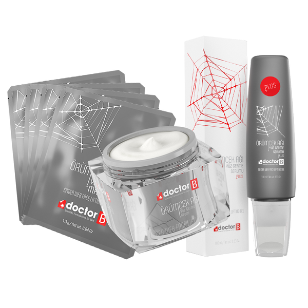 1 Spider Web Cream, 4 Spider Web Mask and 1 Serum