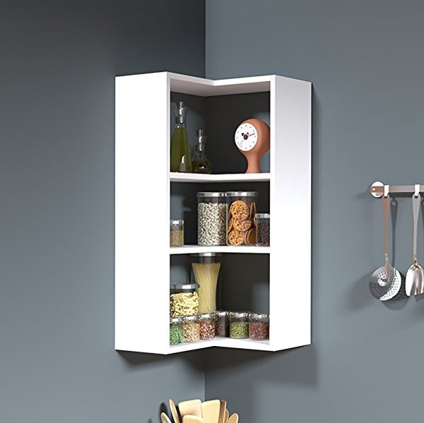 side corner wall shelf - white - homidea® Side Wall Shelves