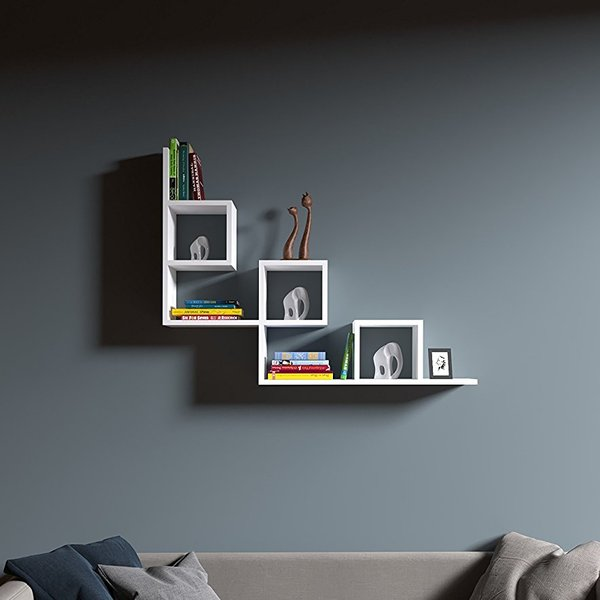 Tail Etagere Murale Blanc Etagere Murale Bibliotheque