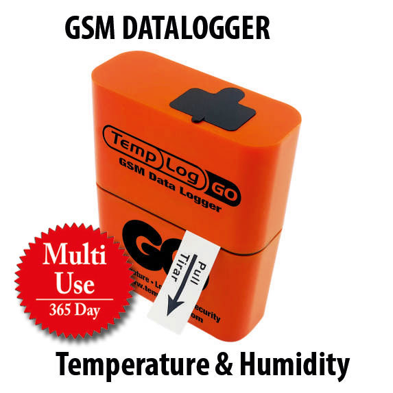 Multi Use Temperature & Humidity GSM DATALOGGER + One year online tracking subscription.
