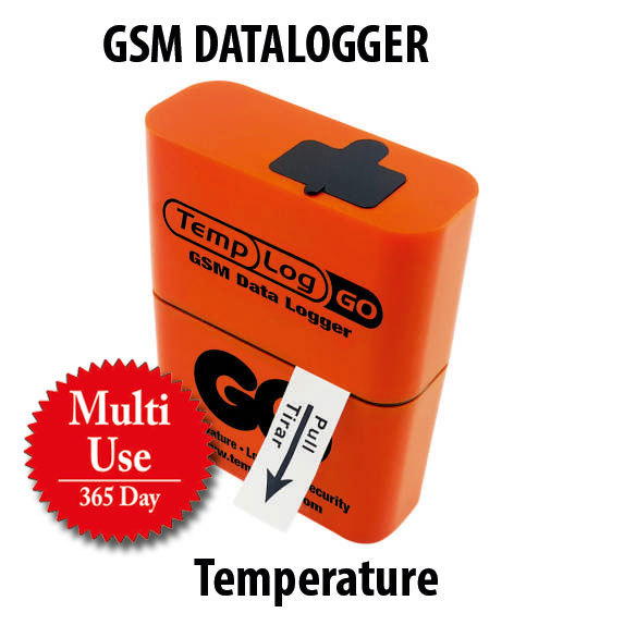 Multi Use Temperature GSM DATALOGGER + One year online tracking subscription.