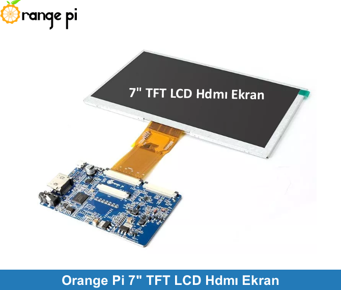 "Orange Pi 7"" TFT LCD HDMI Screen"
