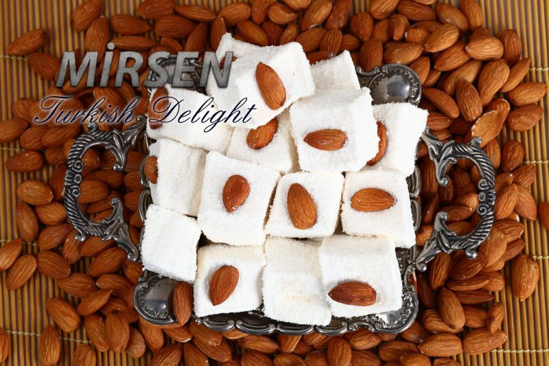 Sultan Turkish Delight With Almond 500 gr