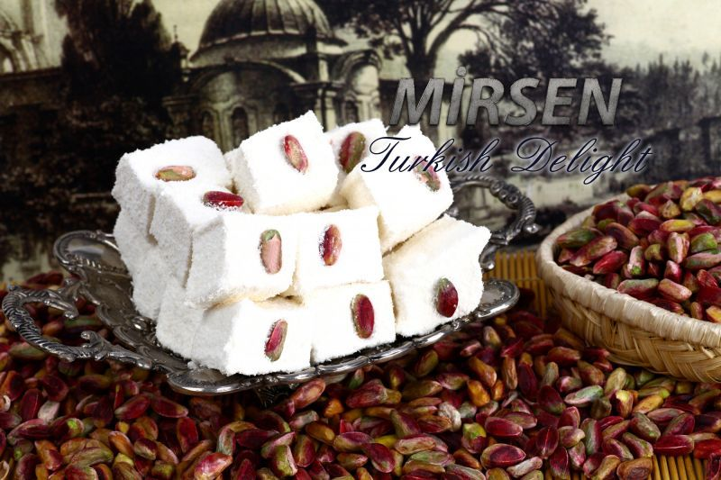 Turkish Delight With Roseleaf And Pistachio 500 gr