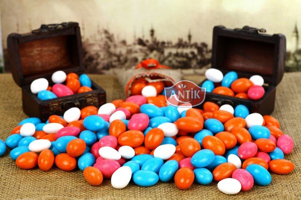 Chocolate Coated Almond Candy Mixed 500 gr