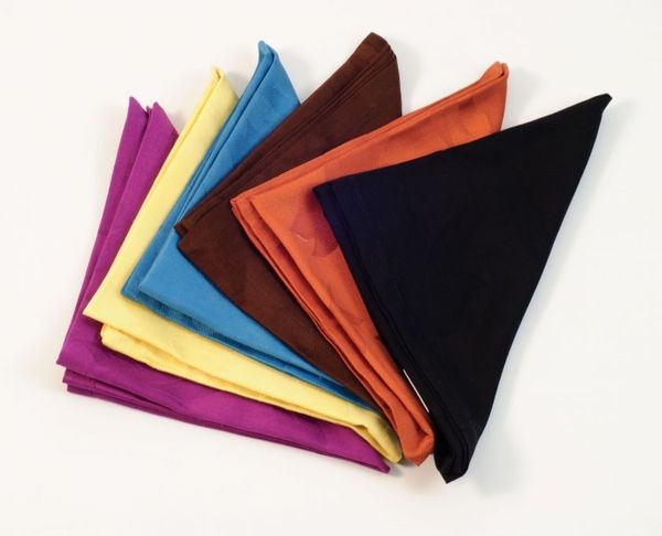 Leaves Designed Colorful Napkin Set