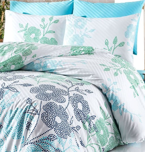 Turquoise Double Duvet Cover Set