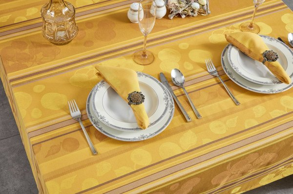 Apricot Designed Table Cloth