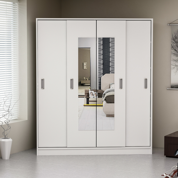 Modena Wardrobe Sliding Doors 160 Cm - White