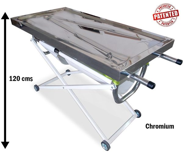 Chromium Birth-Examination Stretcher