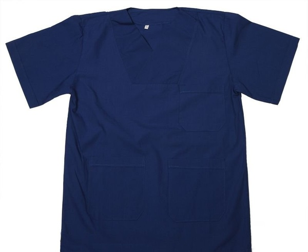 Envelope Collar Veterinary Physician Uniform - Unisex / Blue