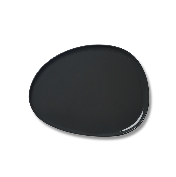 Stone Large Plate, Black Colour