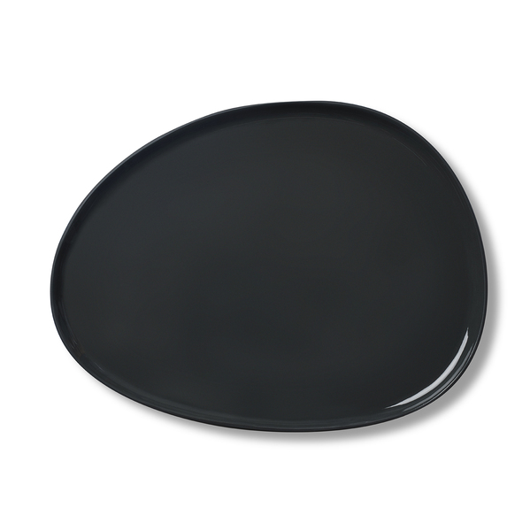 Stone Small Plate, Black&Ivory Colour