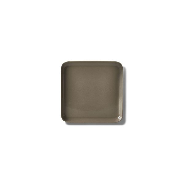 Square Dessert Plate, Rock Colour
