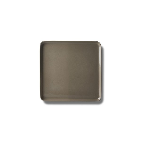 Square Medium Plate, Rock Colour