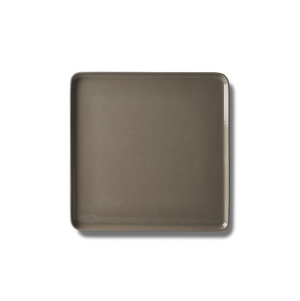 Square Large Plate, Straw Colour