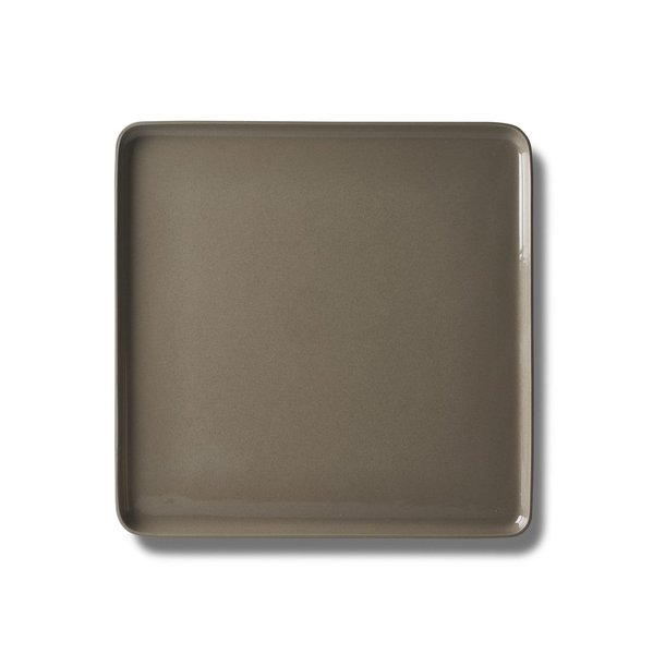 Square Large Plate, Rock Colour