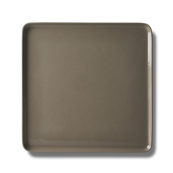 Square Serving Plate, Rock Colour