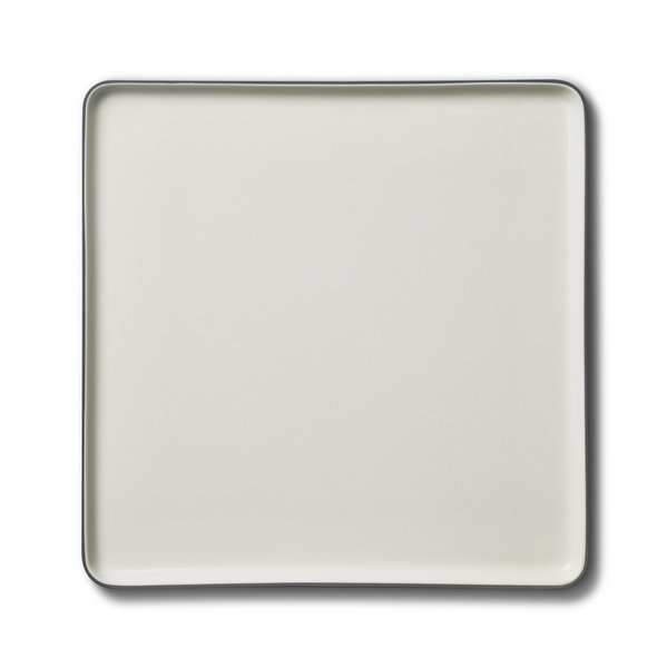 Square Serving Plate, Black&Ivory Colour