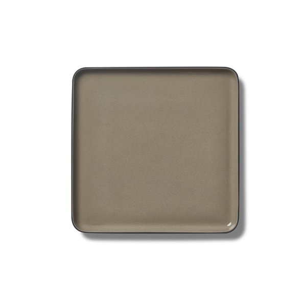 Square Medium Plate, Black&Rock Colour