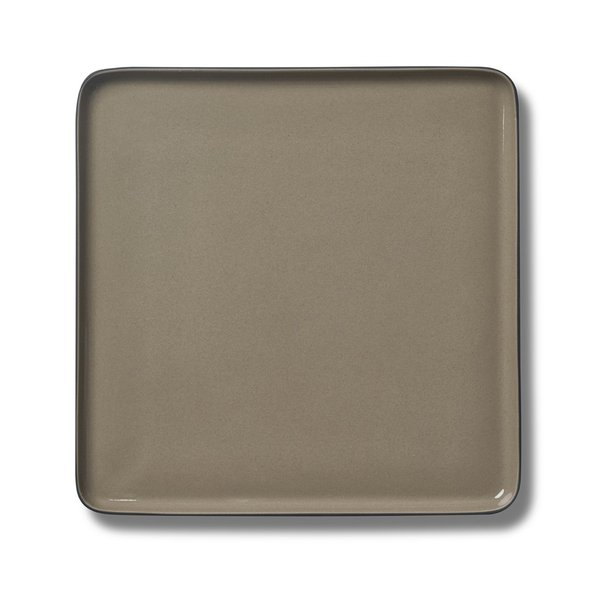 Square Serving Plate, Black&Rock Colour