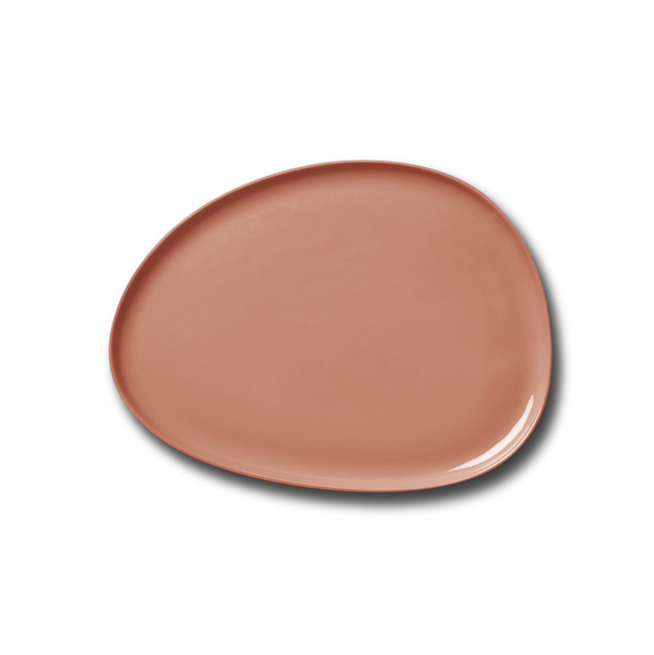 Stone Medium Plate, Coral Colour