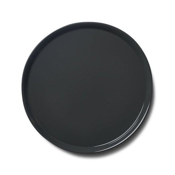 Round Medium Plate, Black Colour
