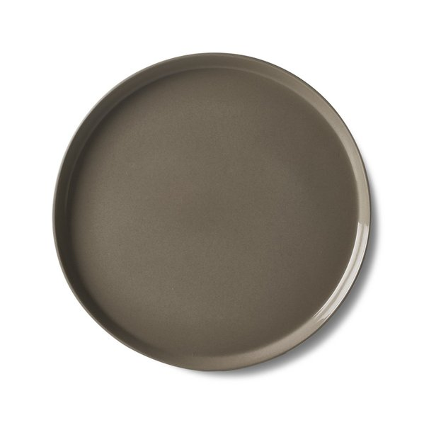 Round Large Plate, Black Colour